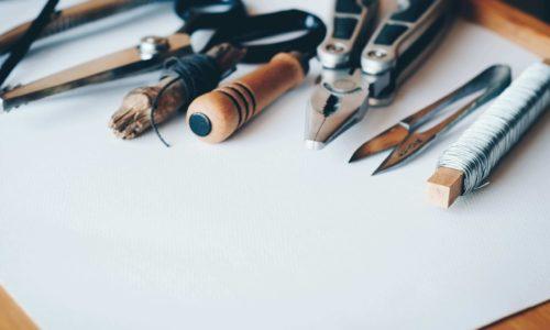 various tools for handmade custom-made construction